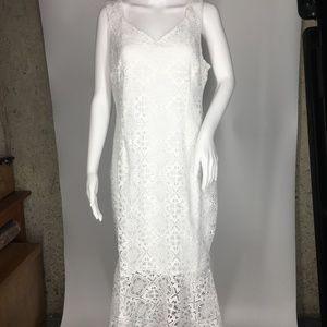 Thalia Sodi White Lace Dress Size 10 Sleeveless
